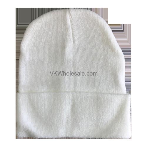 6638b6d8427ea White Winter Hat Wholesale 12 pk - VKWholesale.com