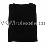 Wholesale Black Short Sleeves T-Shirts 12 Individual Wrap