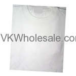 Wholesale White Short Sleeves T-Shirts 12 Individual Wrap