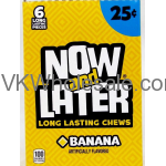 Now & Later Candy Banana 24/6 PCS Bars Wholesale