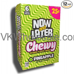Now & Later Candy Pineapple Chewy 24/6 PCS Bars Wholesale