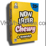 Now & Later Candy Banana Chewy 24/6 PCS Bars Wholesale