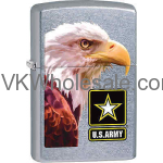 ZIPPO CLASSIC US Army Flag Street Chrome Windproof Lighter