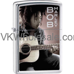 Zippo Classic Bob Marley with Guitar High Polish Chrome Windproof Lighter Z220