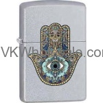Zippo Classic Hamsa Hand Satin Chrome Windproof Lighter Wholesale