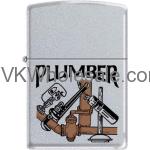 Zippo Classic Plumber Satin Chrome Z284 Wholesale
