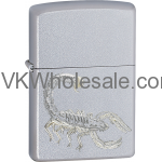 Zippo Classic Scorpion Satin Chrome Windproof Lighter Z267 Wholesale
