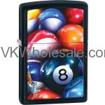 Zippo Classic Mazzi 8 Ball Black Matte Z229