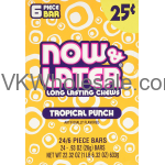 Now & Later Candy Tropical Punch 24/6 PCS Bars Wholesale