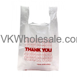 1/6 Heavy Duty Thank You T-Shirt Shopping Bags Wholesale