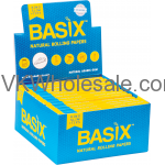 BASIX Natural Rolling Papers King Slim + Tips Wholesale