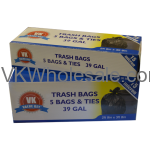 39 GAL Extra Strength Tall Kitchen Bags