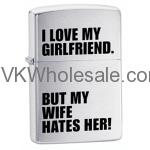 Zippo I Love My Girlfriend Lighters Wholesale