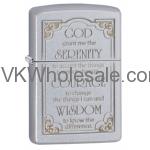 Zippo Serenity Prayer Lighters Wholesale