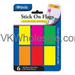 Neon Color Stick On Flags Wholesale