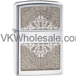 Zippo Filigree High Polish Chrome Lighter Wholesale