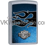 Zippo HD Harley Davidson Blue Flame Street Chrome Lighter 28822 Wholesale