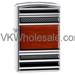 Zippo Steel and Wood Lighter With Pipe Lighter Insert 28676 Wholesale