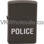 Zippo Classic Police Black Matte Z204 Lighter Wholesale