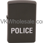 Zippo Classic Police Black Matte Z204 Lighter Wholesale