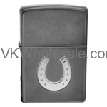 Zippo Horseshoe Gray Dusk Embossed Lighter 28498