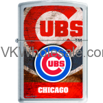 Zippo Classic MLB Chicago Cubs Brushed Chrome Z901 Lighter Wholesale