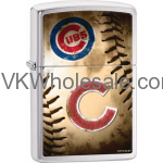 Zippo Classic MLB Chicago Cubs Brushed Chrome Z903 Lighter Wholesale