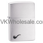 Zippo Brushed Chrome Pipe Lighter With Pipe Lighter Insert 200PL Wholesale