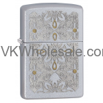 Zippo Filigree-Classical Curve, Satin Chrome Finish Lighter 28457