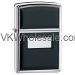 Zippo Windproof Black Ultralite Lighter, Polished Chrome 355 Wholesale