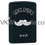 Zippo Black Matte Gentlemen's Style Windproof Lighter 28663  Wholesale