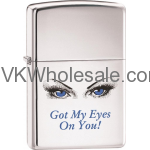 Zippo Classic Got My Eyes On You High Polish Chrome Z264 Wholesale