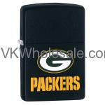 Zippo Classic NFL Green Bay Packers Black Matte Z744 Lighter Wholesale