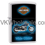Zippo Classic Harley Davidson Wide Glide Brushed Chrome Z651 Wholesale