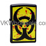 Zippo Lighter 24330 Hazardous Black Matte Lighter Wholesale