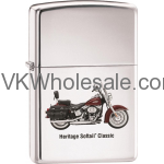 Zippo Classic Harley Davidson Heritage High Polish Chrome Z241 Lighter Wholesale