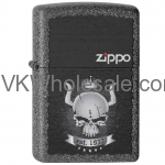 Zippo Lighter Classic Iron Stone Matte Skull Crown Wholesale