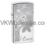 Zippo Love and Flower Lighter Wholesale