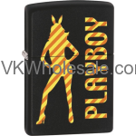 Zippo Classic Playboy Black Matte Z244 Lighter Wholesale