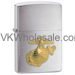 Zippo Windproof US Marine Corps Crest Brushed Chrome Lighter 280MAR Wholesale