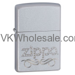 Zippo Scroll Satin Chrome Lighter Wholesale