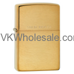 Zippo Brushed Brass Lighter, WIth Solid Brass