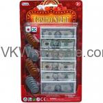 24 ASST BILLS & COINS CASINO NIGHT MONEY SET IN BLISTER CARD Wholesale