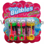 "3PC 3.25""CRAZY-BUBBLES BOTTLES & LOOPS IN BLISTERED CARD Wholesale"