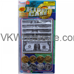 60PC KIDDY CASH-PLAYING MONEY IN BLISTER CARD Wholesale