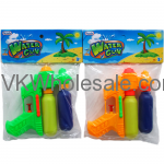 "6"" 2-TANK MINI WATER GUN IN POLY BAG W/HEADER ASST. COLORS Wholesale"