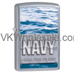 Zippo Classic America's Navy Street Chrome Z106 Windproof Flint Lighter Wholesale