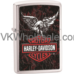 Zippo Classic Harley Davidson Eagle Brushed Chrome Z240 Lighter Wholesale