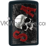 Zippo Classic Sons Of Anarchy Skull Black Matte Z116 Windproof Flint Lighter Wholesale