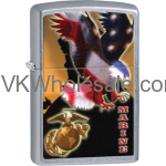 Zippo Classic United Sates Marine Corps American Flag Street Chrome Z112 Wholesale